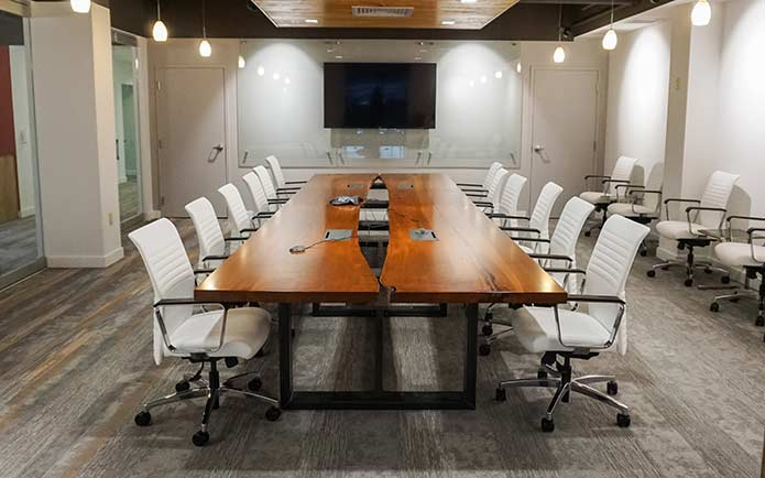 Custom Valley Conference Table in Conference Room