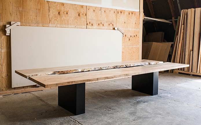 Valley Table in Greg Pilotti Workshop