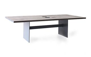 Solid Wood Conference Table Side