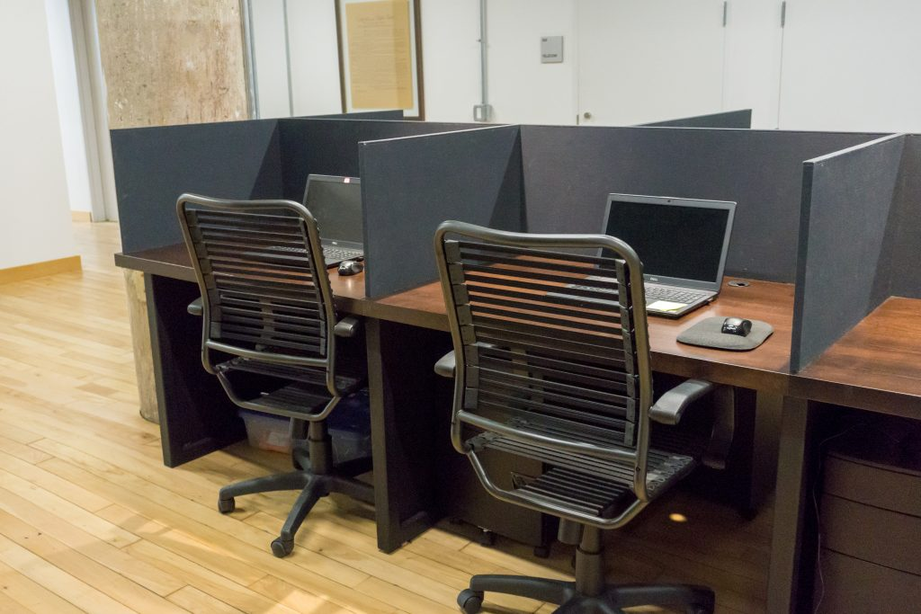 reclaimed wood computer desks
