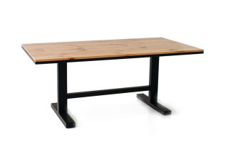 Small wooden conference room table