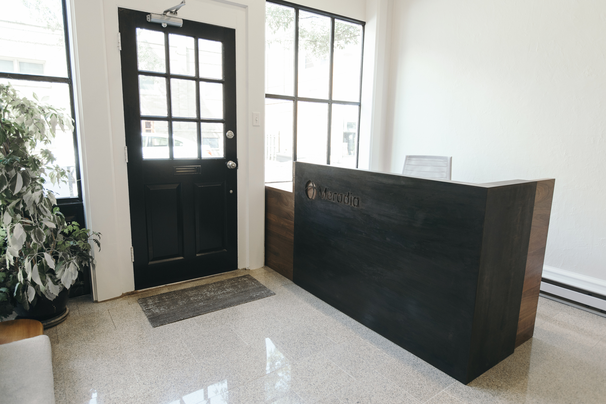 custom receptionist desk