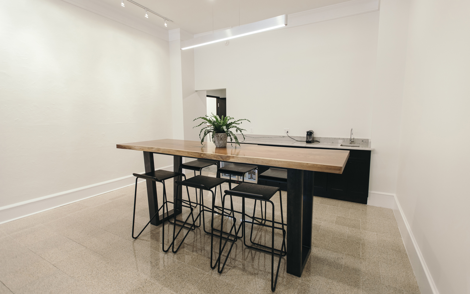 custom standing lunch room table