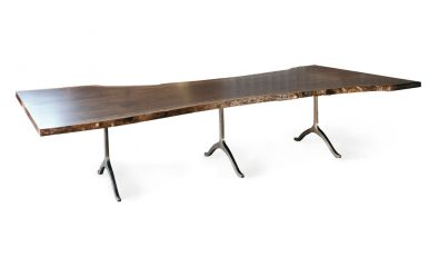 live edge board room table