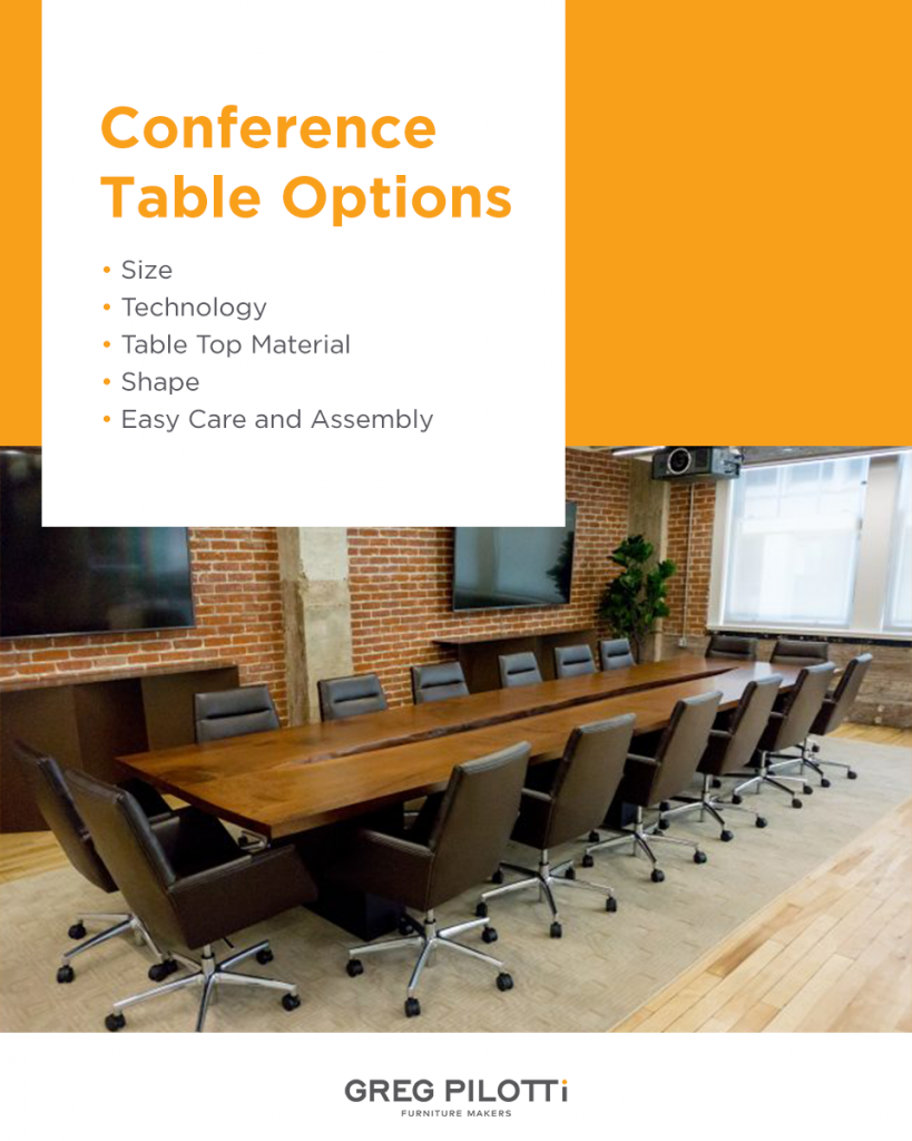 custom conference table options