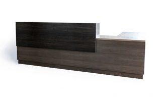 custom dark wood reception desk