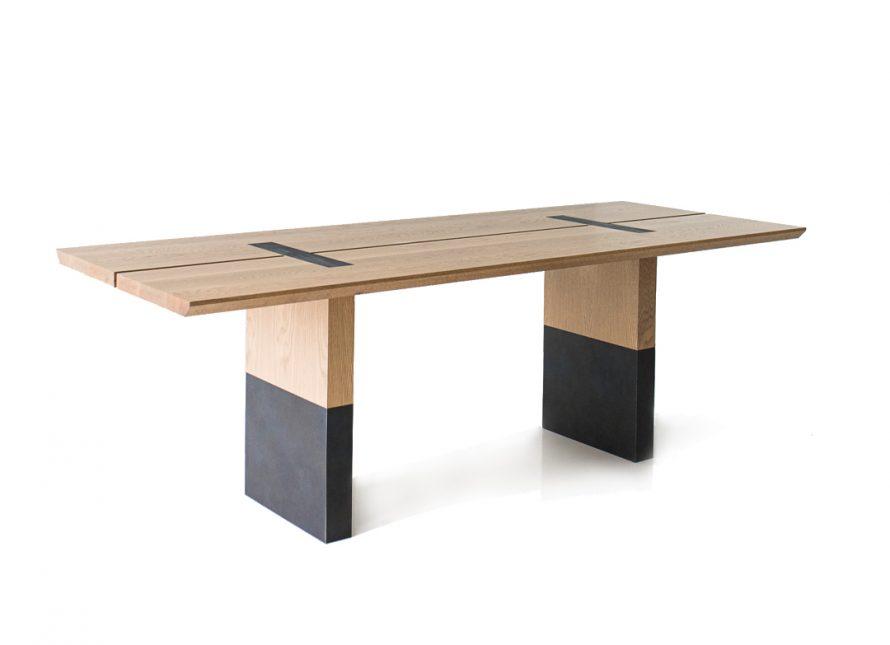 light wood board room table