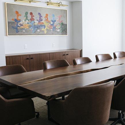 custom wood meeting room table
