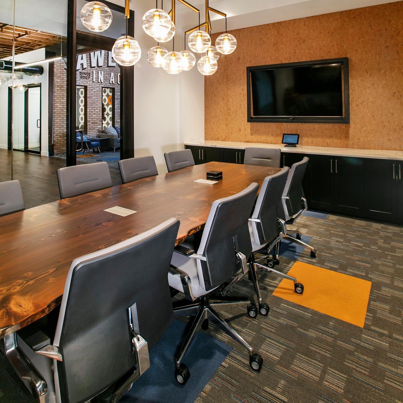 long wooden board room table
