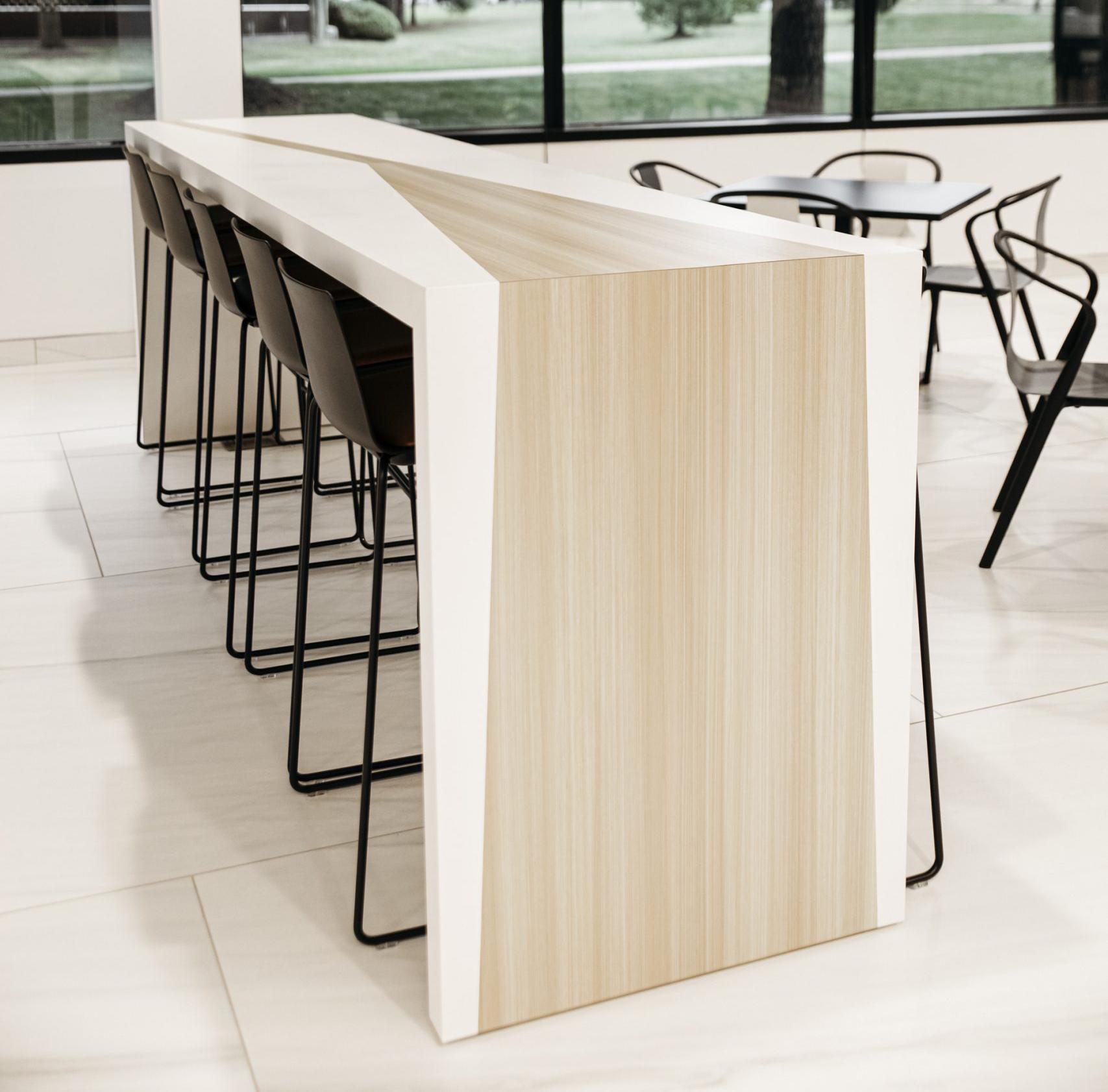 custom light wood table