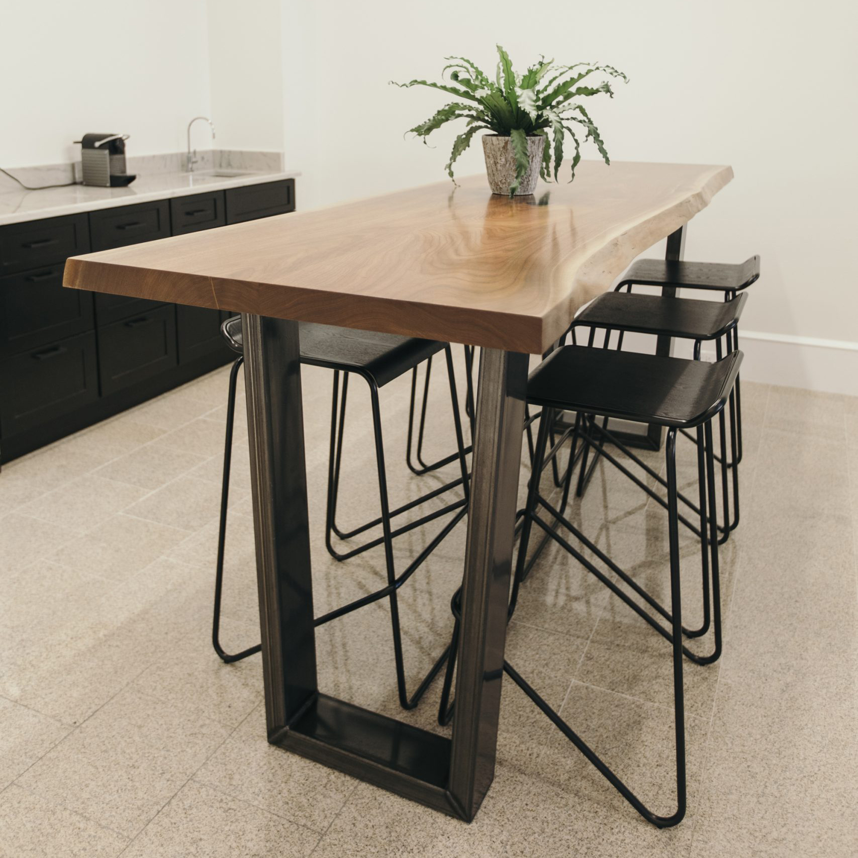 custom wood kitchen table