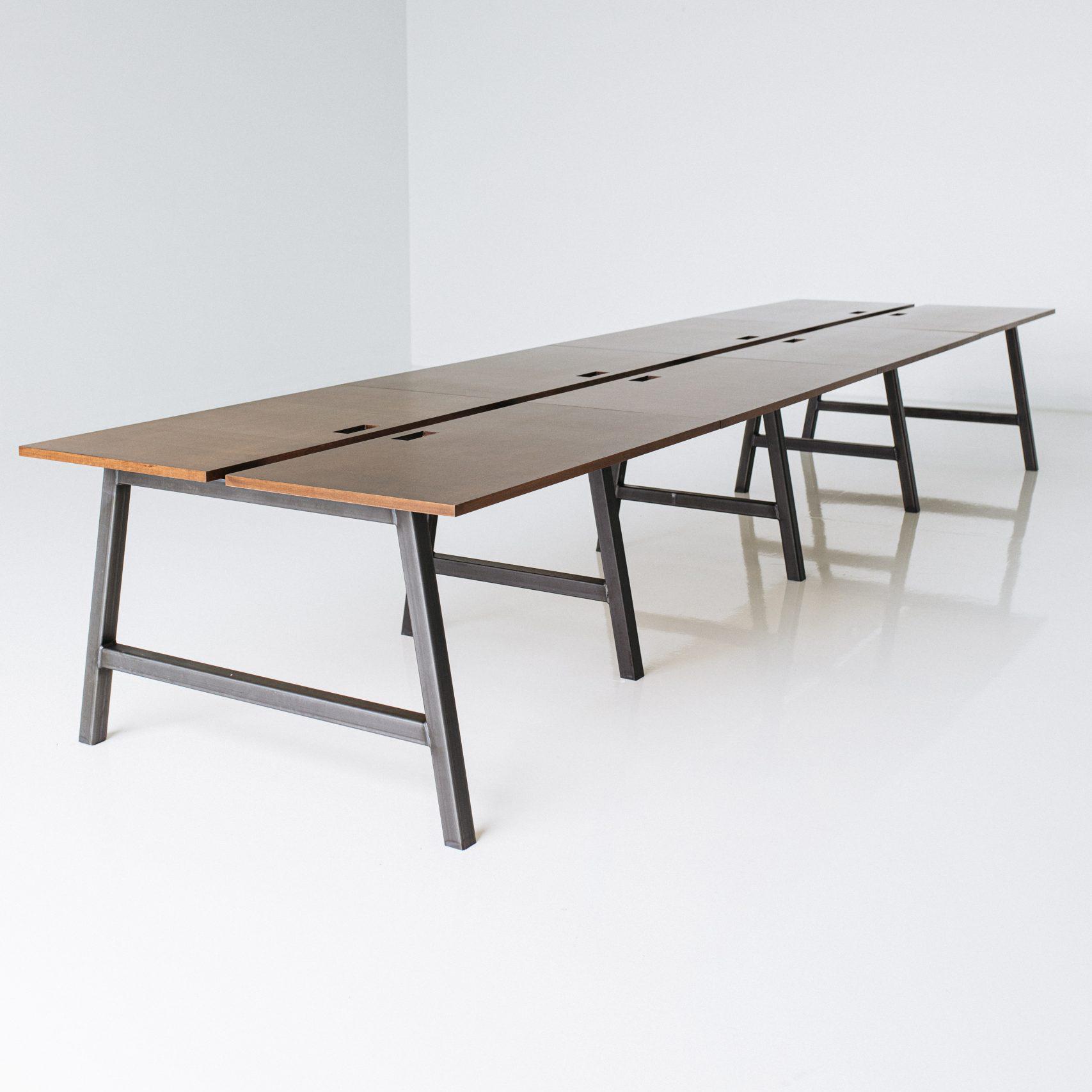 wood meeting room table