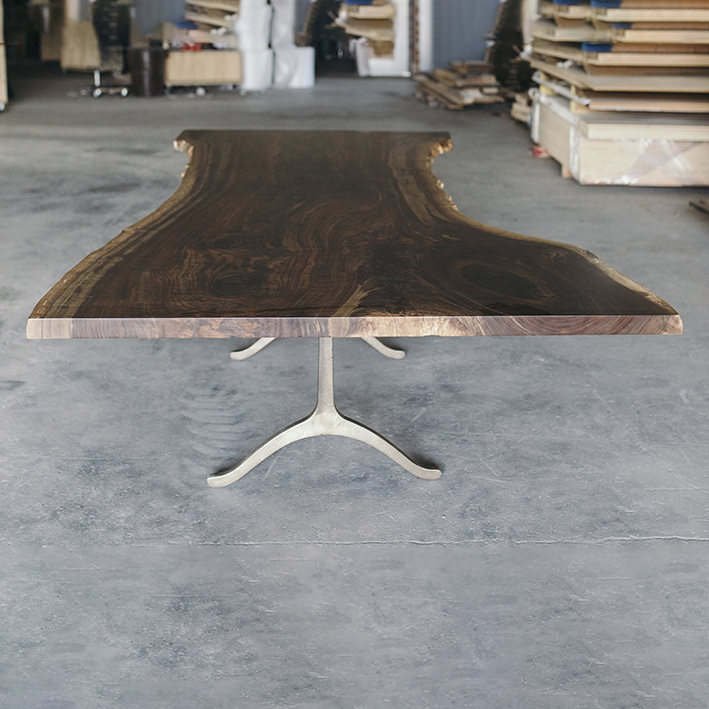 exposed wood custom conference table