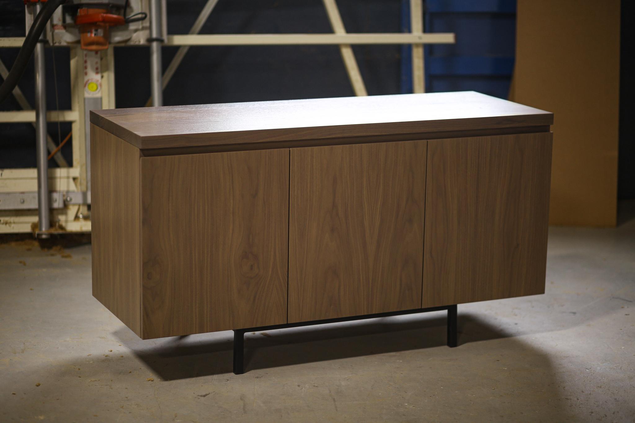 wood top credenza
