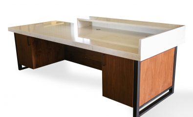 custom quartz reception desk