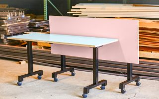 roller board room table