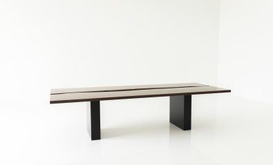 live wood edge middle table