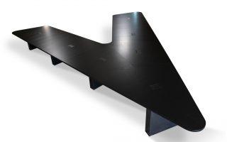 flying v conference table black