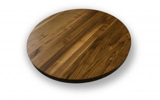 wooden restaurant circle top