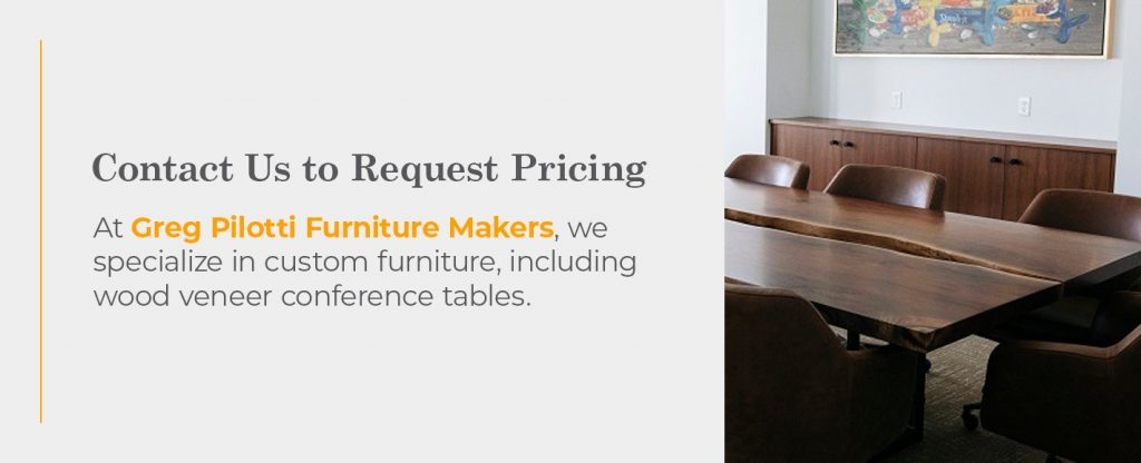 furniture maker pricing request