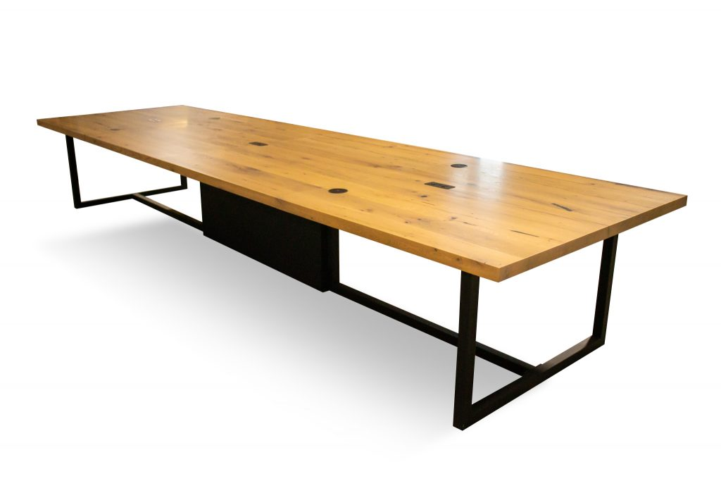 reclaimed wood meeting room table