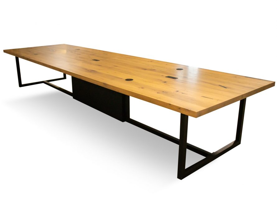 reclaimed wood meeting room table