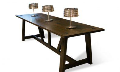 dark brown wood meeting room table